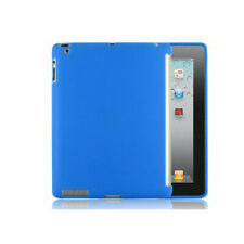 iPad 2/3/4 TPU Gel Silicone Back Case Work With Smart Cover & Screen Protector
