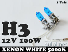 H3 12V 100W Xenon White 5000k Halogen Fog Car Headlight Lamp Globes Bulbs HID