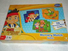 NEW DISNEY JAKE AND THE NEVERLAND PIRATES 72 CARD MEMORY MATCH GAME