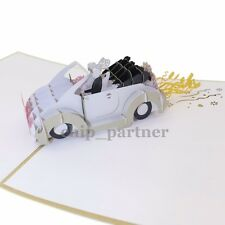 3D Greeting Card Pop Up Cards Wedding Car Invitation Fashion Gift With Envelope