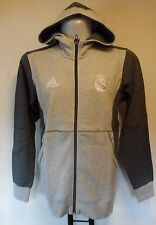 REAL MADRID GREY FZ HOODY BY  ADIDAS SIZE ADULT MEDIUM BRAND NEW WITH TAG