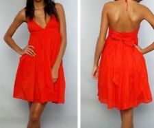 Jack By Bb Dakota Orange Halter Sundress Sz S