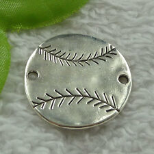 free ship 56 pieces tibet silver football connector 32mm #4015