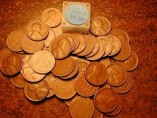 1935-D LINCOLN WHEAT CENT PENNY ROLL, HIGH GRADE!! VF-XF!!!!!