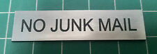 Letter Box No Junk Mail Exterior Sign 60mmx15mm