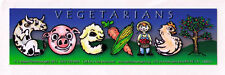 Vegetarian Coexist - Small Bumper Sticker / Decal