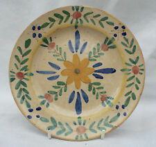 Vintage Portugese Hand painted Art Pottery Plate Signed