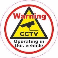 2 La Estática De Vinilo De Seguridad Cctv Taxi Autobús Van Truck vehículo signo calcomanía Caravan