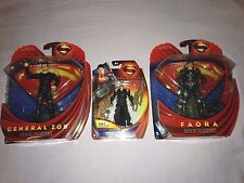 Superman Man of Steel Action Figures x3 General Zod / Faora Movie Masters *NEW*