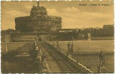 1909 Roma Castel Sant Angelo Esterno Ponte Statue Bloemendaal Holland FP B/N VG