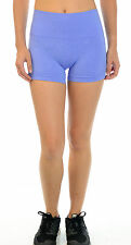 Sz 2 NWT Lululemon In The Flow II Heathered Lullaby Blue Wide Waist Yoga Shorts