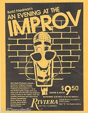 1980's Evening At The Improv Riviera Brochures ads lot Hotel Casino Las Vegas g