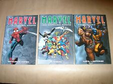 LOT 3 COMICS / MARVEL, LES GRANDES SAGAS : SPIDERMAN, X-MEN, WOLVERINE / TBE