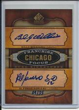 2012 SP FRANCHISE FOCUS BILLY WILLIAMS & ALFONSO SORIANO AUTO #D9/35 CUBS
