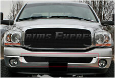 2002-2008 Dodge Ram 1500/2500 Black Billet Grille-Bumper 1Pc
