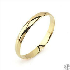 Pure 24k Yellow Gold Filled Solid Womens Smooth Bracelet Dia60mm Bangle
