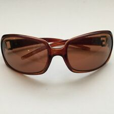 DOLCE & GABBANA - BROWN GLAM WOMEN'S SUNGLASSES WITH CRYSTAL LOGO - & CASE