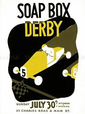 ADVERTISING DU PAGE COUNTY SOAP BOX DERBY ... GLEN ELLYN, ILL. POSTER LV711