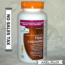 Member's Mark 100 % Psyllium Fiber  400 Capsules, Compare to Metamucil