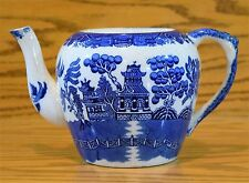 Antique Allertons Blue Willow Teapot (SMOOTH), England (No Lid) holds 6 cups