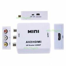NEW Composite AV CVBS 3RCA to HDMI  Video Converter Adapter 720P 1080P IN US