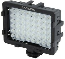 CAMLINK 5400K 48 LED PHOTO VIDEO LIGHT WITH 3 DIFFUSER FILTERS + HOT SHOE MOUNT
