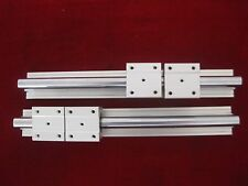 12mm linear slide guide shaft SBR12-350mm 2 rail+4 SBR12UU bearing block CNC set