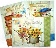 CHRISTIAN FAITH SCRIPTURE BIRTHDAY CARDS SET/3 * FAST USA SHIPPING  #6  Garden