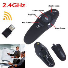 USB Wireless PC PowerPoint PPT Lecture Presenter Laser Pointer Remote Pen New HH