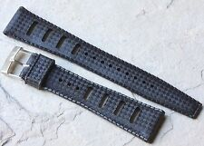 Black 20mm Tropic strap type slotted NOS vintage divers watch rubber strap 1960s
