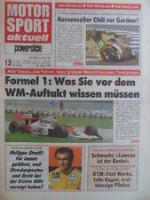 MOTOR SPORT AKTUELL 13 - 1989 Philippe Streiff DTM Bubba Schobert Reinhold Roth