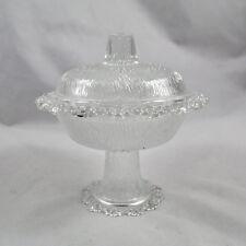 Schale mit Deckel und Fuß / Pressglas / Konfektschale / Glas / Bonboniere / bowl