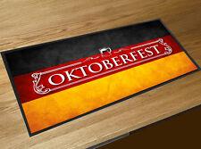 Oktoberfest German Flag white beer label bar runner Bar mat Events & Pubs
