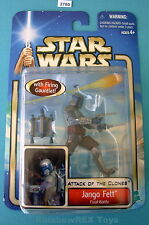 "Star Wars 2002 JANGO FETT Final Battle 3.75"" Figure Mint on Card"