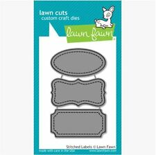 Lawn Fawn Lawn Cuts Cutting Die Set ~ STITCHED LABELS  Title, Tags~ LF858