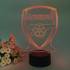 Arsenal Football Club LED USB y de la batería de computadoras de escritorio Mesa De Luz De La Lámpara 7 Colores