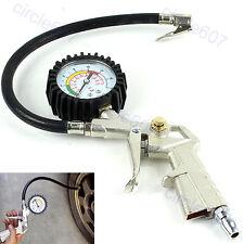 Car Auto Tire Tyre Air Inflator Dial Pressure Metal Gauge Measurement Metal New