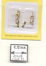 Half Scale - Door Knob Brass Key Plate 1:24 Dollhouse H1114 6pcs Houseworks