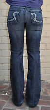 ROCK & REPUBLIC Jeans  Roth Radion Crystal  Bootcut Blue 27  Womens