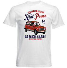 VINTAGE FRENCH CAR RENAULT 4L - NEW COTTON T-SHIRT