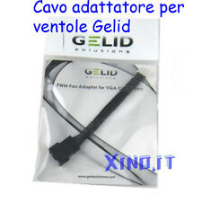 CAVO ADATTATORE GELID da PWM a VGA Fan Adaptor Cable for Cooler from 3 4 PIN to!