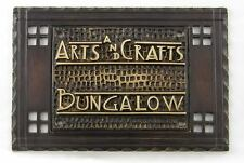 NEW ARTS AND CRAFTS BUNGALOW HARDWARE CRAFTSMAN PLATE - SOLID BRASS W BRONZE FIN