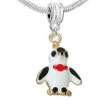 Penguin Charm European Bead Compatible for Most European Snake Chain Bracelet