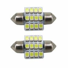 2X White 31mm 12 LED SMD Festoon Dome Car Bulb 3021 3022 DE3175 Light Lamp a