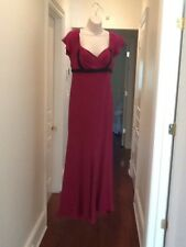 Marchesa Pink Magenta Black Beading Gown Dress Size 8