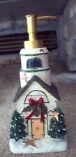CHRISTMAS:  Soap, Lotion Dispenser CHURCH LIGHTHOUSE Bathroom, Kitchen  NEW!