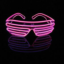 El Wire Neon LED Festival Light Up Glow Sunglasses Glasses Rave Club Party Hot