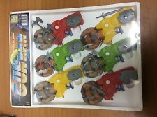 expositor 6 x water gun galaxy warriors heman motu vintage new old stock