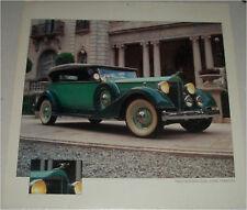 1934 Packard Dual Cowl Phaeton car print (tutone green, white top)