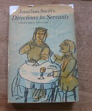 DIRECTIONS TO SERVANTS by Jonathan Swift  -1st/1st HCDJ 1964 illustrated